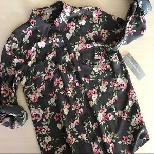 NY Collection floral print top